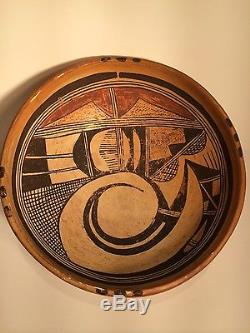 Fantastic Hopi Decorated Bowl, Nampeyo style w hatching, c1910, Excel condition, NR