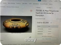 Fantastic Hopi Pottery Polychrom Seed Jar Atributted To NAMPEYO