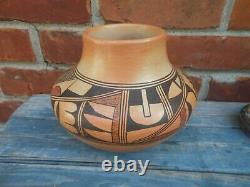 Fine Hopi Native American Polychrome Pot By Lorna Lomakema (B. 1930)