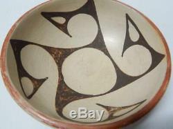 Freda Poleahla(1930-1995) Vintage Hopi Pueblo Indian Pottery Chili Bowl Pot