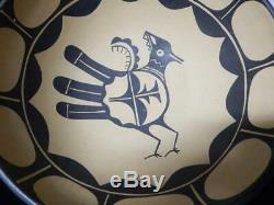 Giant 14+ Vintage Santo Domingo Pueblo Indian Pottery Dough Bowl Pot R. Aguilar