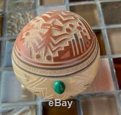 Glendora Daubs Fragua Native American Jemez Sgraffito Pottery