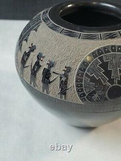 Gloria Garcia Goldenrod Santa Clara Native American Pottery 3×4