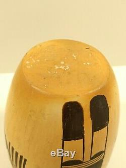 Gorgeous VTG Hopi Native American Handmade Authentic 7 Vase Hand Painted