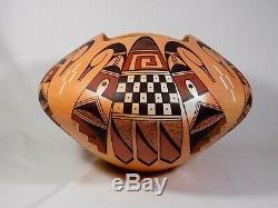 Gorgeous Very Large Hopi Indian Pottery By Award Winning Stetson Setalla