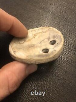 Gorget artifact indian native american arrowhead pendant effigy pottery plummet