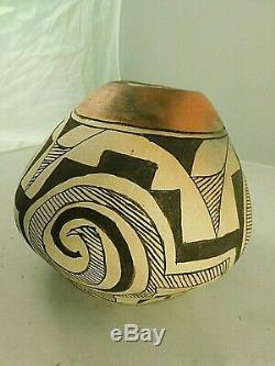 HISTORIC Native American Acoma Pueblo Pottery Hand Coiled & Painted Olla