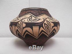 Hand Coiled Zuni Pottery Native American Indian Pueblo Deer Anderson Peynetsa