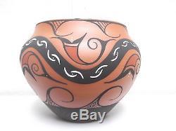 Handcoiled Zuni Pottery Native American Indian Pueblo By Priscilla Peynetsa