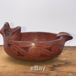 Happy Frog Effigy Maricopa pueblo bowl/ashtray, W5.5 Native American pottery