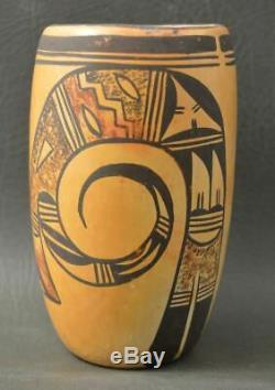 Hopi Indian Pottery Cylinder