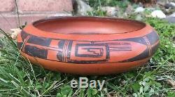 Hopi Nampeyo Hano Black-on-Red Bowl Pottery Seed Dish Native American Art
