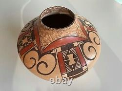Hopi Native American Indian Large Polychrome Pottery Signed Miriam Nampeyo