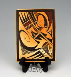 Hopi Native American Indian Pottery Harvest Tile Garrett Maho