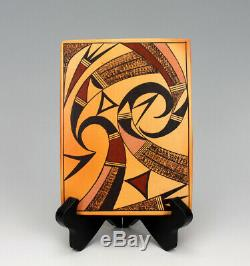 Hopi Native American Indian Pottery Parrot Tile Garrett Maho