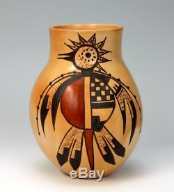 Hopi Native American Indian Pottery Thunderbird Jar Jean Sahmie