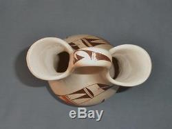 Hopi Native American Pottery 10.5 Wedding Vase by Joy Navasie, 2nd Frog Woman