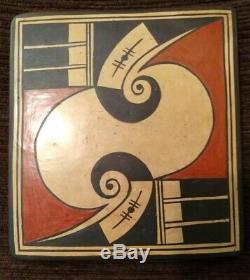 Hopi Native American Pottery Tile by RACHEL SAHMIE (Nampeyo Koo Loo) EUC