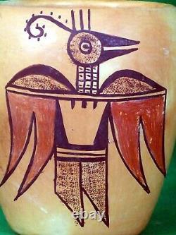 Hopi Polychrome Jar Mythical Bird Image Vintage Beauty Dates To 1920