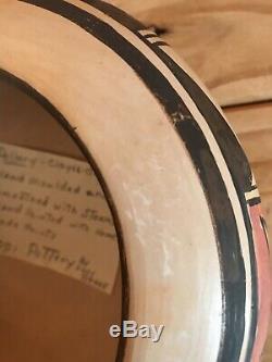 Hopi Pottery Bowl Vase Signed Lucy Nahee Vintage Native American 1902-1981