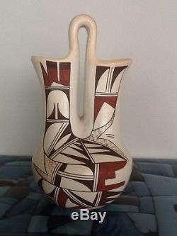 Hopi Wedding Vase Pot By Joy Navasie Frog Woman Mint Condition