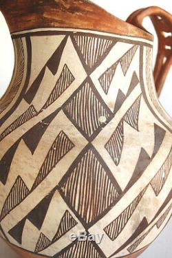 Huge Vintage Acoma Pueblo Indian Pitcher 1960s Unique Old Indian Pottery 11 inch