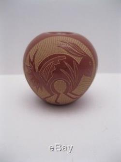 Important Joseph Lonewolf Santa Clara Pueblo Pottery Rabbit Seed Pot/Vase