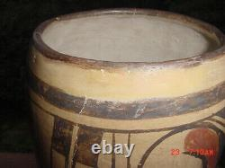 Important Old Tall 10.5 Inch Hopi Indian Pottery Jar
