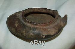 Indian Artifacts Effigy Pottery Vessel