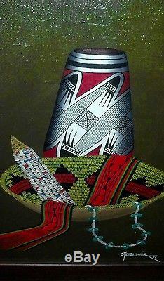 Indian native american art SKEET YELLOWHAIR (SET of THREE)