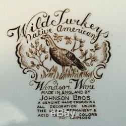 Johnson Brothers Wild Turkey Native American Windsor Ware Dinner Plate