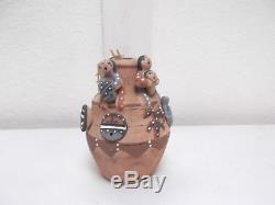 Jemez Pottery Native American Indian Pueblo House Storyteller by Felicia Fragua