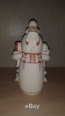 Jemez Pueblo Handmade Pottery Male Storyteller signed A. Concha Alma Maestas