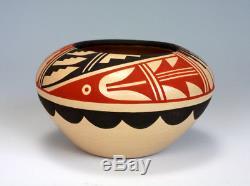 Jemez Pueblo Native American Indian Pottery Polychrome Bowl Pauline Romero