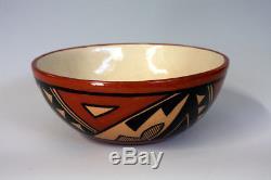 Jemez Pueblo Native American Indian Pottery Polychrome Bowl Verda Toledo