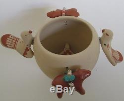 Jemez Pueblo Pottery New Mexico Fetish Animal Pot Artist Signed 4