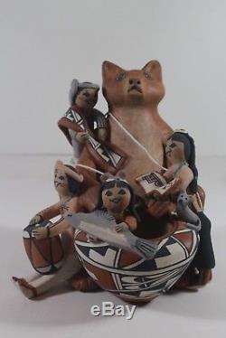 Jemez Storyteller Cat by Carol Lucero- Gachupin