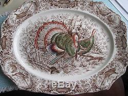 Johnson Bros Wild Turkeys Native American 20 Platter. Absolutely Mint