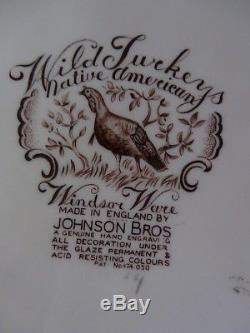 Johnson Bros. Wild Turkeys Native American Platter 20