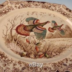 Johnson Bros Wild Turkeys Native American Turkey Serving Platter 20 by 16