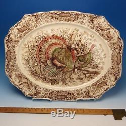 Johnson Bros Wild Turkeys Native American Turkey Serving Platter 20 x 16