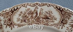 Johnson Brothers Windsor Ware Native American Wild Turkeys Dinner Plate ENGLAND