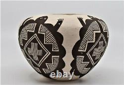 Juana Leno Native American Pottery Turtle Pot Vessel Acoma Pueblo New Mexico