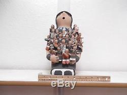 LARGE! 15 Jemez Pottery Native American Indian Pueblo Storyteller by Cass Toya