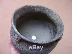 LARGE AUTHENTIC MISSISSIPPIAN PARKIN PUNCTATE POTTERY JAR FROM THE PAYNE SITE