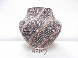 LARGE! Acoma Pottery Native Indian Pueblo Fine Line Pot by Frederica V. Antonio