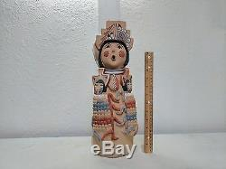 LARGE! Jemez Pottery Native Indian Pueblo Corn Maiden Storyteller Emily Tsosie