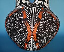 LARGE Native American Acoma Wedding Vase Painted Stylized Webs by JAY VALLO