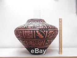LARGE! San Felipe / Zuni Pottery Native American Indian Pueblo by Joseph Latoma