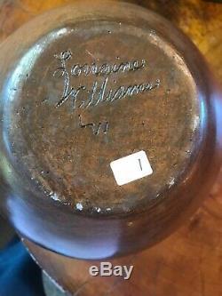 LORRAINE WILLIAMS Native American Navajo Pottery Pot LARGE 9.25 Tall STUNNING